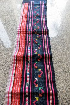 Vintage Hmong Fabric, handmade cross stitch cotton,  fabric- textiles,-hill tribal fabric on Etsy, $54.99