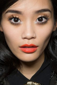 freakowiak:Ming Xi backstage at Moschino Spring 2013.