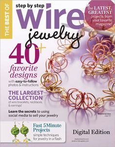 Check out the Blooming Lotus Necklace by Leah Helmrich on the Cover of Best of Step by Step Wire Jewelry, 2012 Digital Download available now!