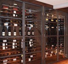 Custom Wine Rack from diamondLife Gear installed in wine cellar.
