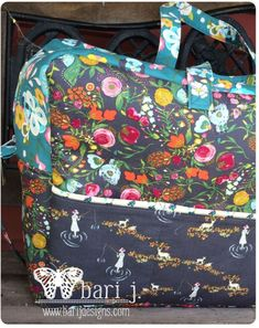 Holiday in London Duffle pattern  by Bari J. + Emmy Grace fabric by Bari J.