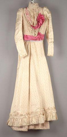 Dress: bodice and skirt, circa 1898.