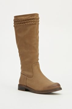 Khaki Classic Knee High Boots
