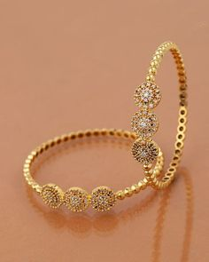Coin Jewelry Inspired Studded Bangles Bracelet - Shop exclusive online collection of for Women at VOYLLA. Choose from collection of gold, copper, & charm bracelets at ✓Best Prices ✓COD ✓Easy Returns Bracelets Design, Gold Bangles Design, Gold Earrings Designs, Gold Jewellery Design, Charm Bracelets, Gold Bracelets, Silver Bangle Bracelets, Antique Jewellery, Handmade Jewellery