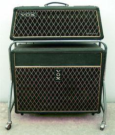 vox vintage amps   1966 Vintage Vox Buckingham Piggyback Amp Model V1121   Vintage Guitar ...