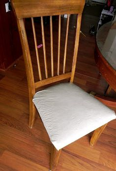 How to cover a kitchen chair for less than $1.