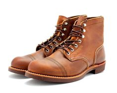 RED WING HERITAGE IRON RANGER 08115D COPPER ROUGH & TOUGH LEATHER #RedWing #AnkleBoots