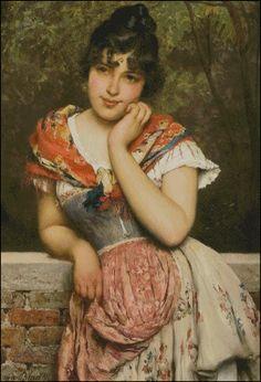 The Athenaeum - Far Away Thoughts (Eugene de Blaas - )