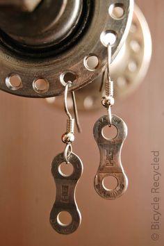 Single Bicycle Link Earrings