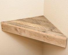 Pallet Rustic Corner Shelf