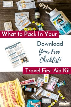 How to avoid getting sick while traveling with a travel first aid kit #travelwellness #healthytravel #firstaidkit #travelbug #travelfirstaidkit