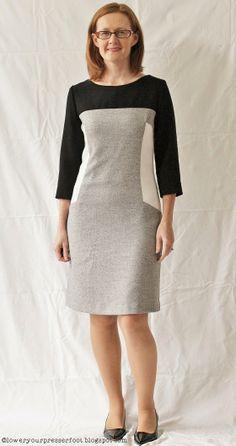 Burda-6-2013-#117-panelled-dress http://loweryourpresserfoot.blogspot.cz/2014/01/a-year-of-burdas.html
