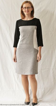 Burda-6-2013-#117-panelled-dress http://loweryourpresserfoot.blogspot.cz/2014/01/a-year-of-burdas.html