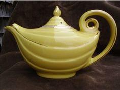This vintage tea pot looks like the magic lamp from Aladdin