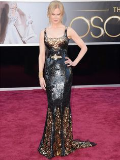 Nicole Kidman in L'Wren Scott column gown.