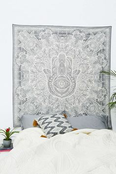 Gorgeous! This would go well in my new bedroom. Hamsa Hand Tapestry - Urban Outfitters