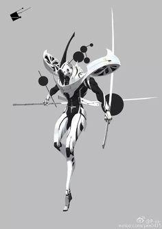 Dustrial, Cyberpunk Clothing & Apparel — sekigan: P-xx-的照片… Fantasy Character Design, Character Design Inspiration, Character Concept, Character Art, Robot Concept Art, Armor Concept, Accel World, Robot Design, Sci Fi Characters