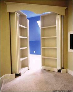 french door, dream, secret room, playroom, bookcas, hous, room kids, hidden rooms, bedroom