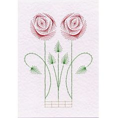 Stitching Cards Art Nouveau Rose 3