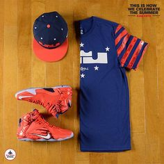 The #Nike LeBron 12 '4th Of July' Collection. Available in stores and online at footlocker.com. #July4th #Approved