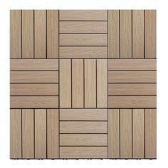 "Naturale Composite 12"" x 12"" Interlocking Deck Tiles in Canadian Maple"