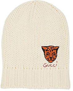 8d654def Gucci Men's Tiger-Appliquéd Wool Beanie - Ivorybone Gucci Beanie, Beanie  Hats, Gucci