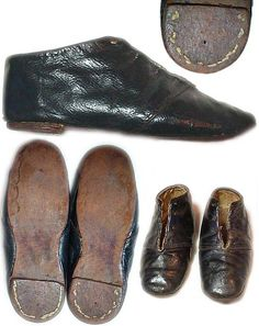 Children's 1850's shoes