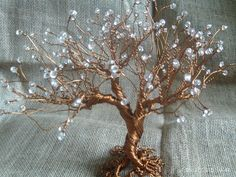 Wire Tree Sculpture - Handmade - Wire Metal Art
