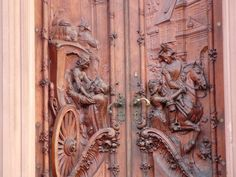 Exceptionally carved door by Angeyja on deviantART. Taken at Worms. It's supposed to be the entry of an art gallery.