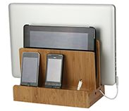 Bamboo Charging Station http://www.greatusefulstuff.com/Bamboo-Multi-Charging-Station-p/ofc01089brkrsd.htm