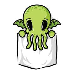 Super cute! Pocket Cthulhu T Shirt $20