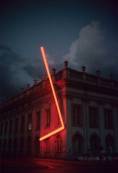Stephen Antonakos, 1977, Kassel, Germany Land Art, Light Art Installation, Art Moderne, Neon Lighting, Public Art, Oeuvre D'art, Les Oeuvres, Light In The Dark, Contemporary Art