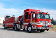 The Pierce heavy-duty rescue tiller crane is headed for the Portland, Oregon Fire & Rescue department. A medium-duty aerial tiller is on order. Fire Dept, Fire Department, Ambulance, Cool Fire, Rescue Vehicles, Fire Equipment, Truck Engine, Emergency Response, Fire Apparatus