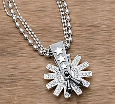 Montana Silversmiths® Large Spur Rowel Necklace
