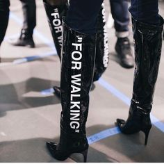 """2 Likes, 1 Comments - ODD!TY (@odditymag) on Instagram: """"Boots for walking at #PFW @off____white"""""""