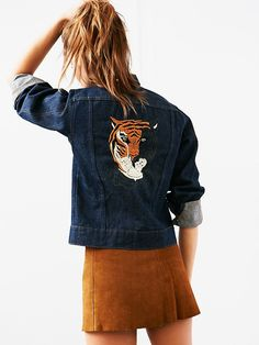 Free People Vintage Embroidered Denim Jacket, $428.00
