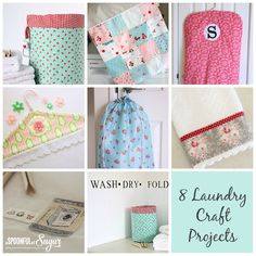 8 Laundry Craft Projects - A Spoonful of Sugar