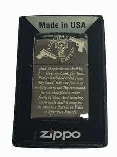 Zippo Custom Lighter - Boondock Saints Prayer Mirror-polished Chrome Limited Edition