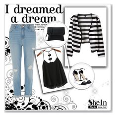 """SheIn 3/III"" by nermina-okanovic ❤ liked on Polyvore featuring River Island and shein"