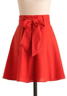 Ruffles and Roses: A Summer of Skirts - TUTORIALS! The bow is cute, but maybe a little big for my taste