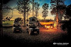 Land Rover Defender adventure camping