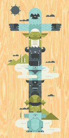 Miscellaneous Monsters by Micah Barta, via Behance #monstersvsrobots