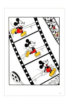 Fine Art Animation Icons  Mickey Mouse Limited Edition Serigraph by Disney featuring classic Mickey Mouse 16 x 21
