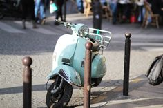 little turquoise vespa Italian Scooter, Vespa, Scooters, Lovely Things, Retro Vintage, Turquoise, Antiques, Places, Inspiration