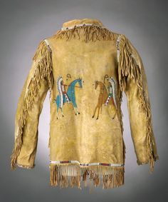 A SIOUX MAN'S PICTORIAL BEADED AND FRINGED HIDE JACKET. c. 1890... | Lot #55187 | Heritage Auctions
