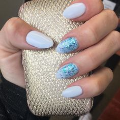 Something blue. This Aurora Blue is the perfect touch to a simple nail.  Sparkles! #akzentz #nails #kamloops #nailenhancements #gelnails #nailtech #summeriscoming #supportlocal  #kamloopsbusiness #kamloopsnails