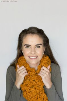 Butterscotch Tassel Scarf - Crochet Pattern + Giveaway