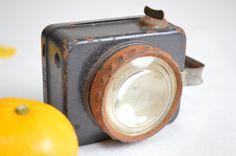 Japanese vintage flashlight torch handheld light.