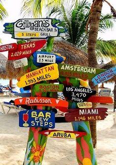 Beach Road Signs :)