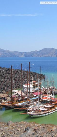The #volcano of #Santorini    Visit #Santorini with www.greek-cruises.com